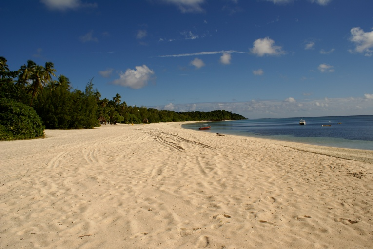 White sandy beaches