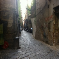 narrow cobbled streets of Naples