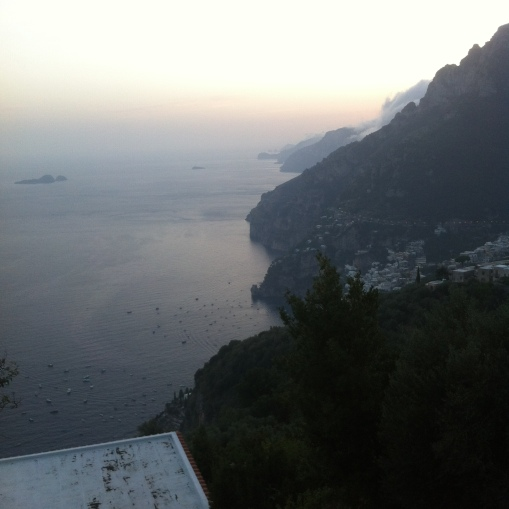 Dinner views Amalfi Coast