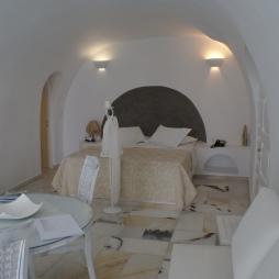 Cave room interior Santorini
