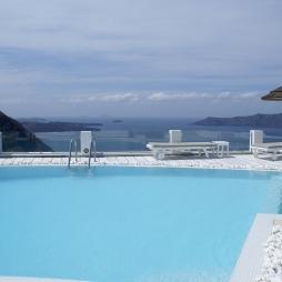 Santorini Princess pool views