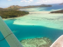Flying to Blue Lagoon