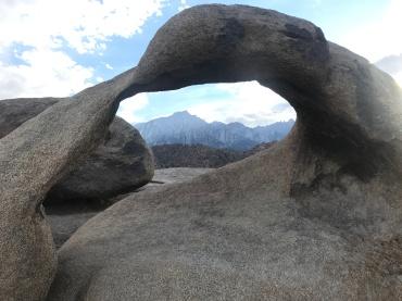 Through the Mobius arch
