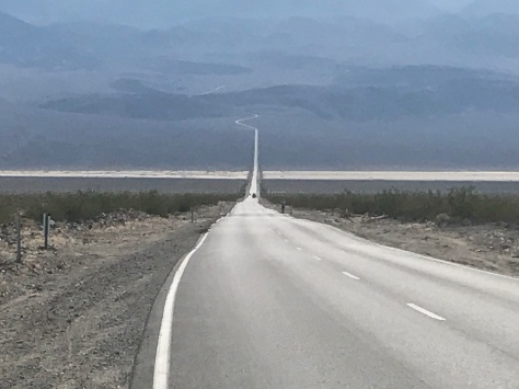 Long straight roads....with a runner!