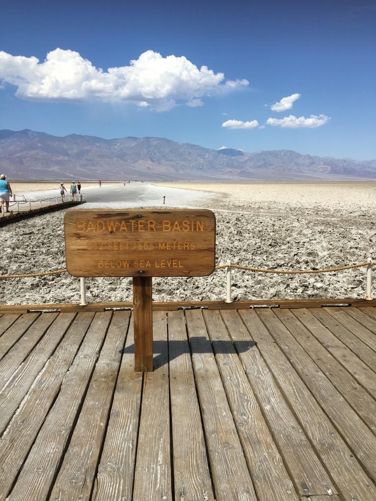 Badwater Basin and saltflats