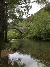 Peaceful river in Navacelles
