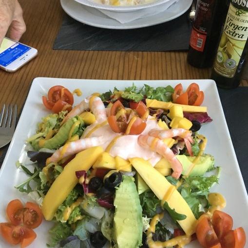 Prawn salad (9 euro)