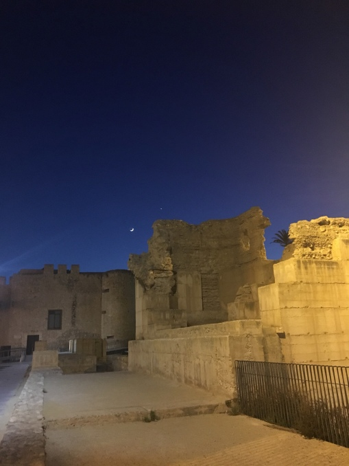evening views of the medieval wall