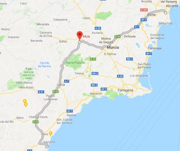 Alicante to Mula to Mojacar