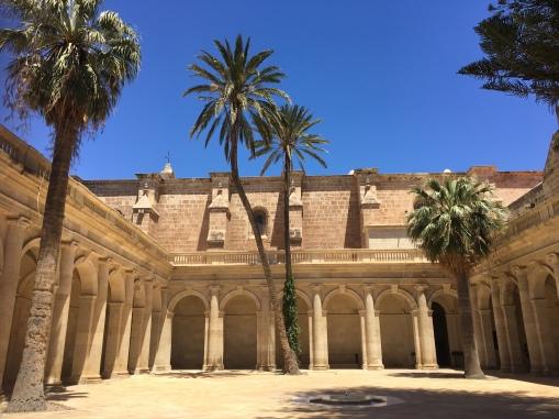 Almeria cathedral courtyard