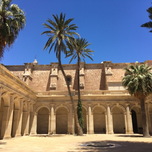 Almeria cathedral courtyard