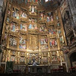 the ornate alterpiece