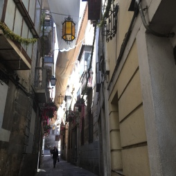 shaded alleyways