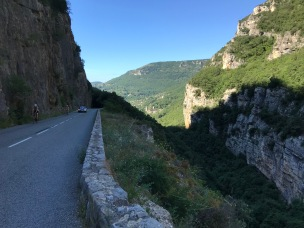 Narrow cycling hill climbs, stunning scenery