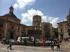 Valencia old town square