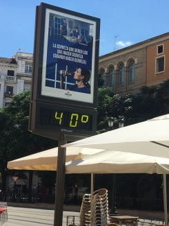 It felt that hot too!