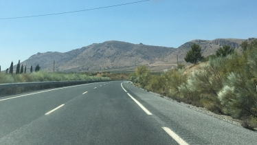 Spanish roads wide and empty