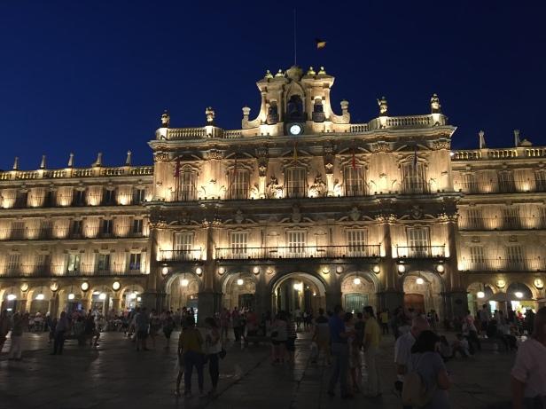 Beautiful town square of Salamanca