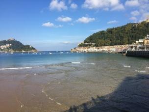 Sheltered La Concha beach, San Sebastian