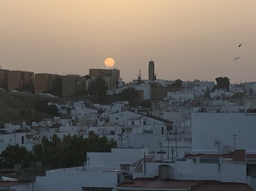 Sahara sands in the atmosphere, Arcos sunset