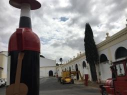 Tiny train tour of the Tio Pepe site