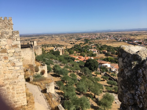 Views over the Extremedura plains from Trujillo castle