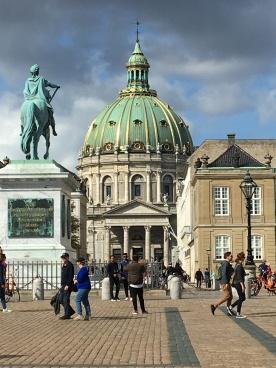 Amalienborg - Palace square and church