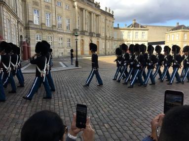 Changing the guard at the Royal Palace