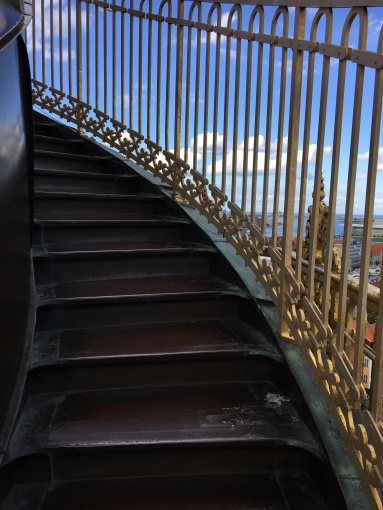 Climbing the 400+ corkscrew steps