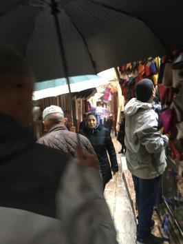 Racing through the alleyways in the rain