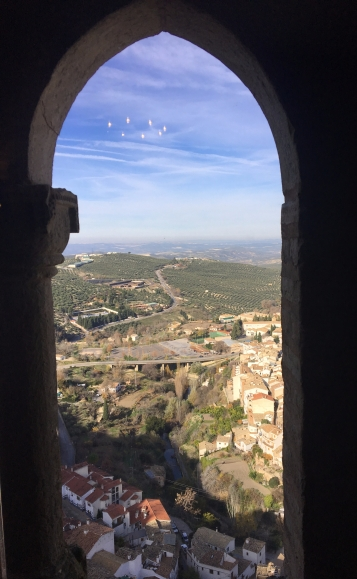Looking over Cazorla and the countryside beyond