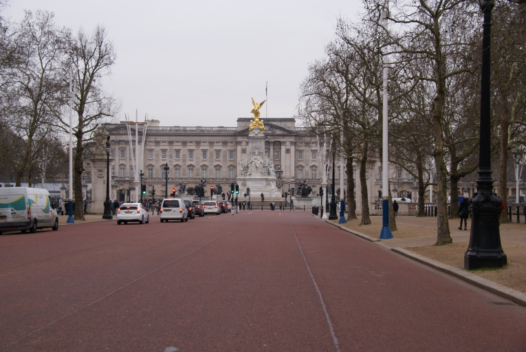 Down the Mall towards Buckingham Palace