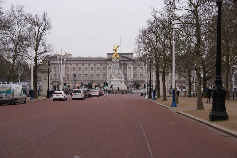 Down the Mall towards Buckingham Palace