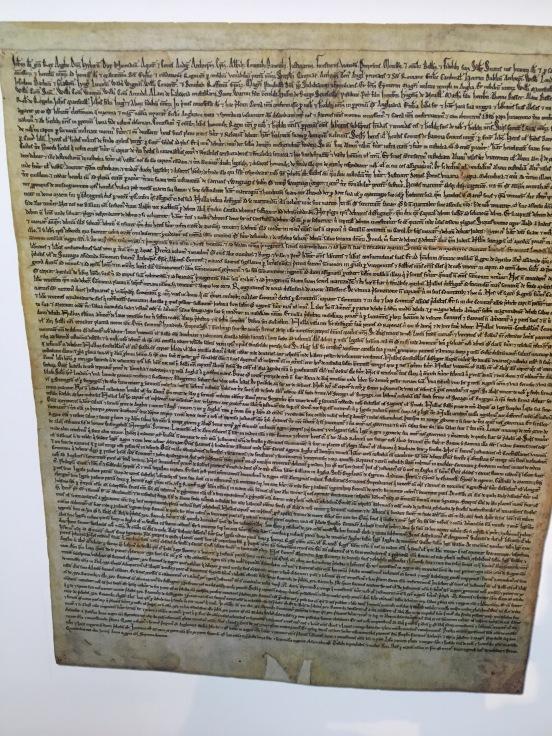 Copy of the Magna Carta