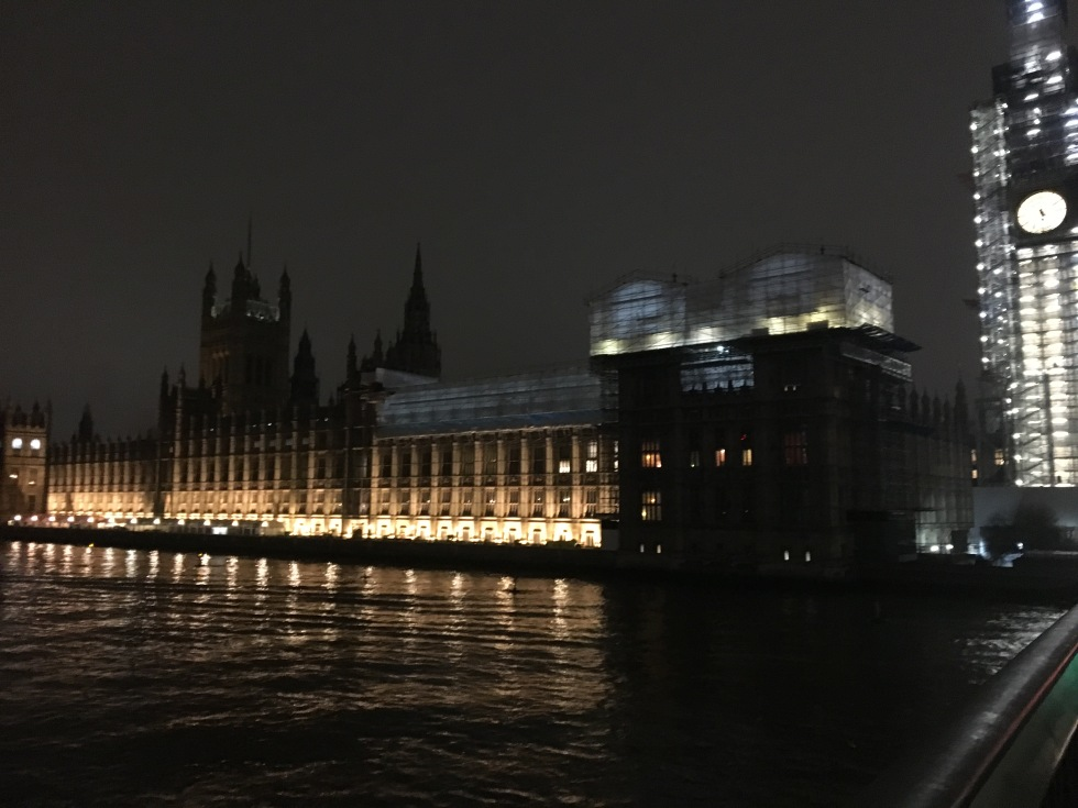 Nighttime views of Parliament