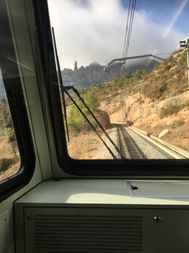 Travelling up the rack railway