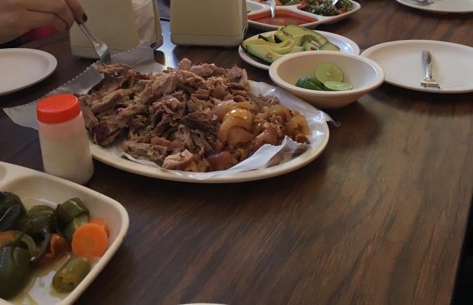Carnitas - tender pork with fresh tacos