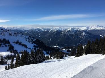 Beautiful white powder and blue skies