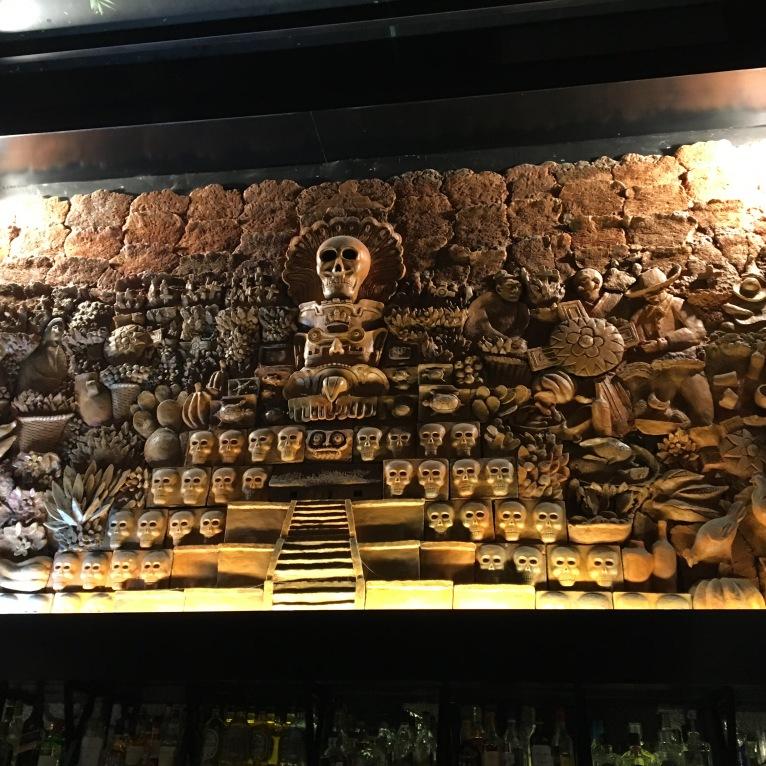 Interesting restaurant decor