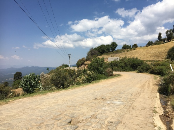 Cobbled roads but great vistas