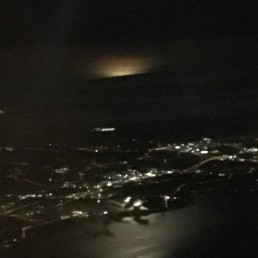 Moonlit landing in Auckland