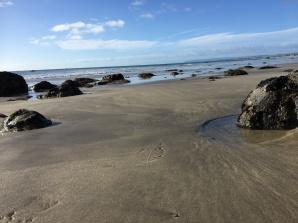 Autumn beach weather